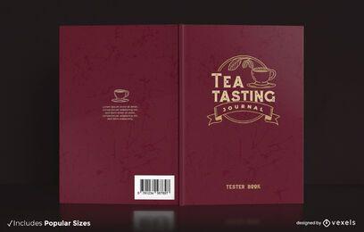 Diseño de portada de diario de degustación de té