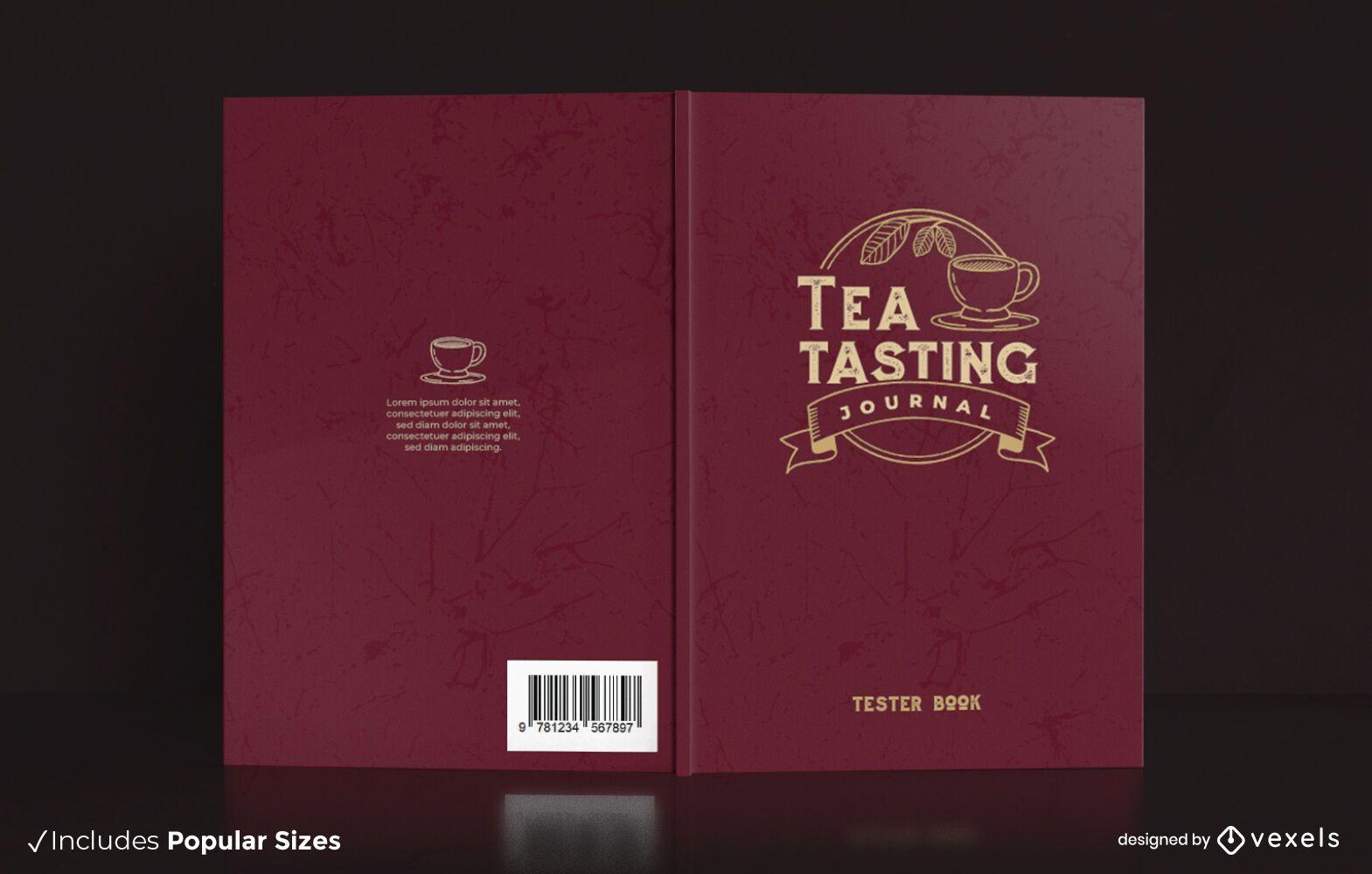 Deisgn da capa do jornal de degustação de chá