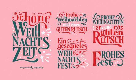 Conjunto de letras alemãs de férias de Natal