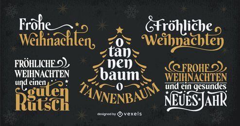 Conjunto de letras alemãs para a temporada de Natal