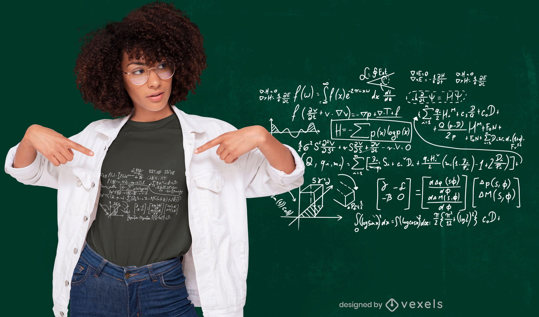 Design de camisetas com fórmulas matemáticas