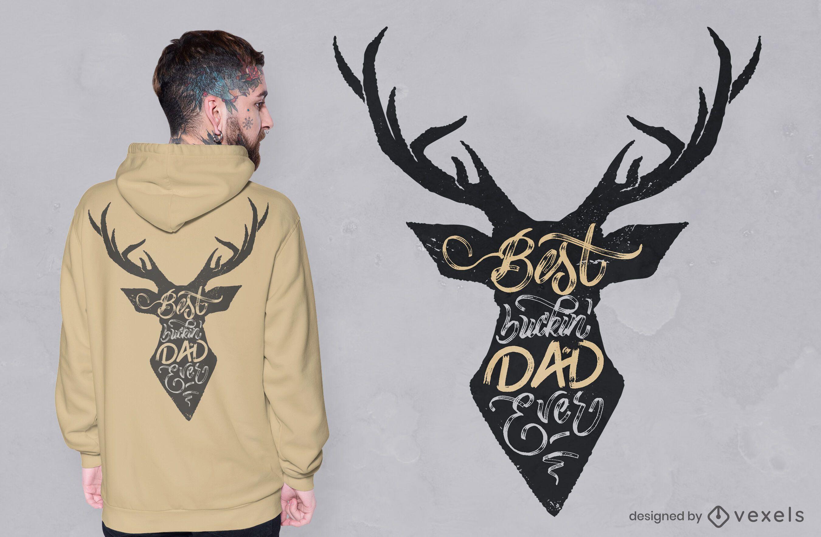 Deer best dad quote t-shirt design