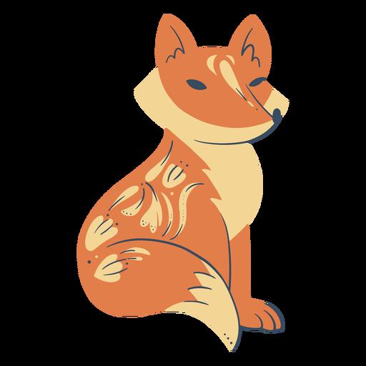 Cute fox organic abstract