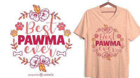 Projeto da t-shirt da natureza da citação da avó do cão