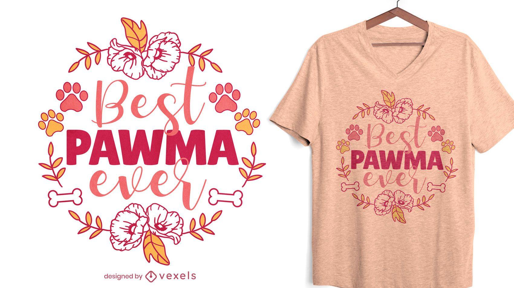 Diseño de camiseta de naturaleza de cita de abuela de perro