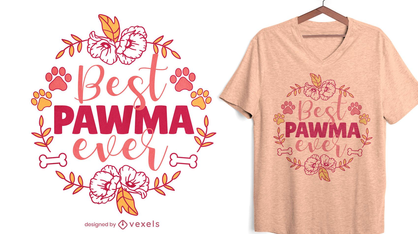 Dog grandma quote nature t-shirt design