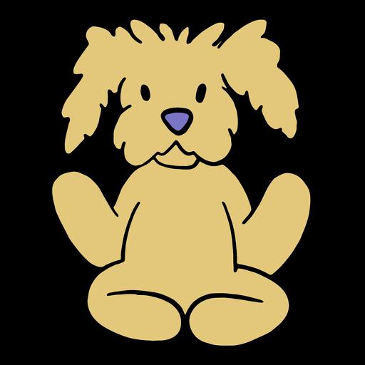 Fluffy dog yoga pose
