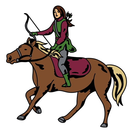 Horse riding archer character