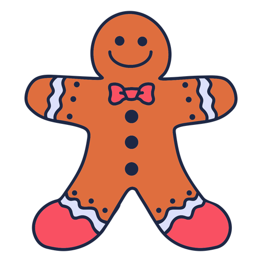 Happy gingerbread cookie