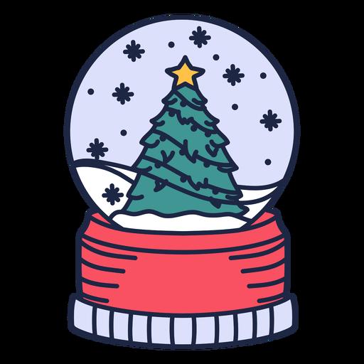 Christmas tree snowglobe decoration