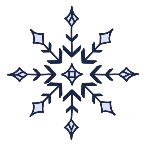 Geometric snowflake winter