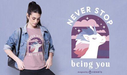 Pride month happy unicorn t-shirt design