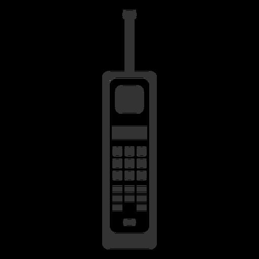 Retro phone filled stroke