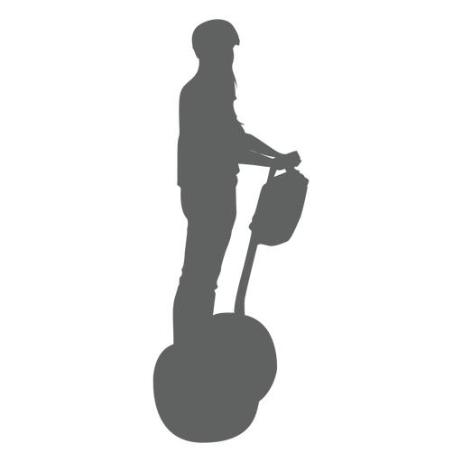 Segway rider from side silhouette