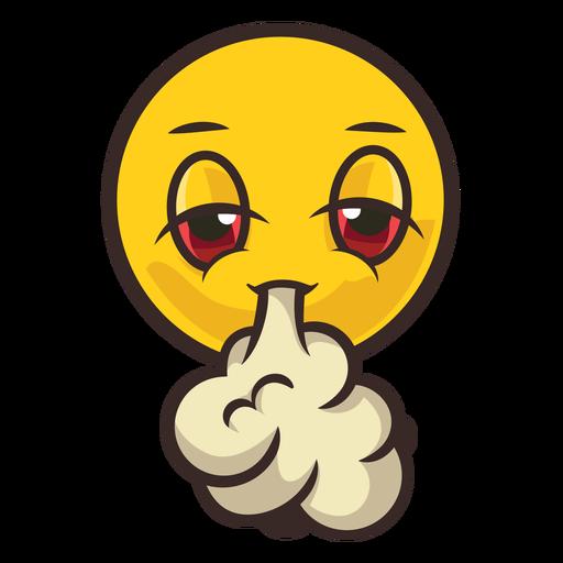 Smoke emoji color stroke
