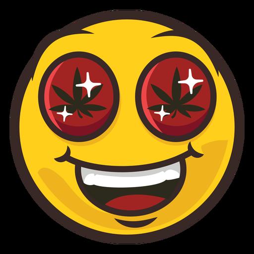 Weed emoji color stroke