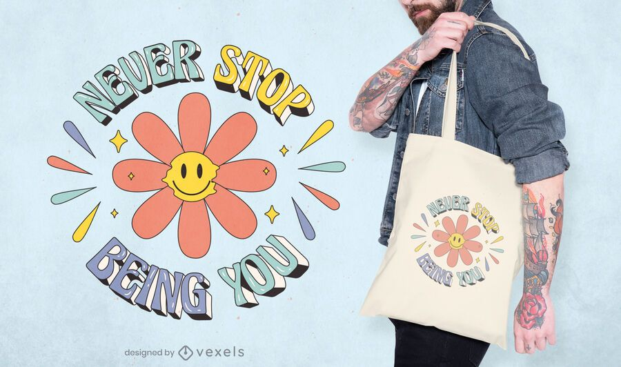 Hippy pride month quote tote bag