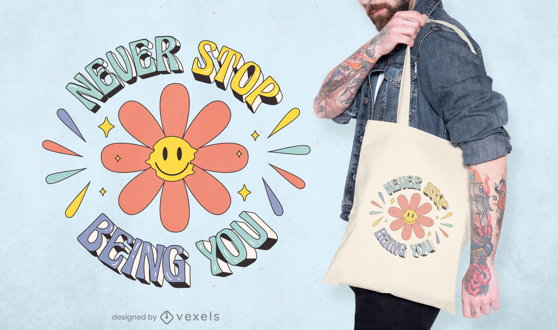 Bolsa de tela Cita del mes del orgullo hippie