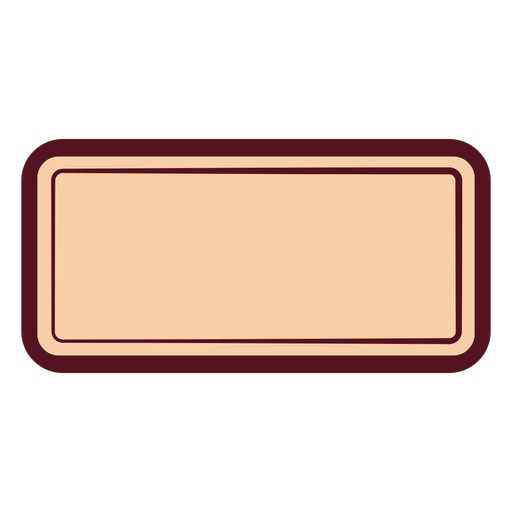 Rectangle with round edges label