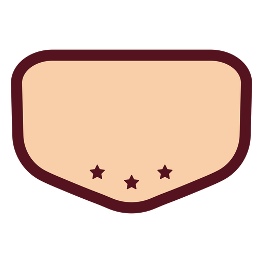 Pink label with stars color stroke