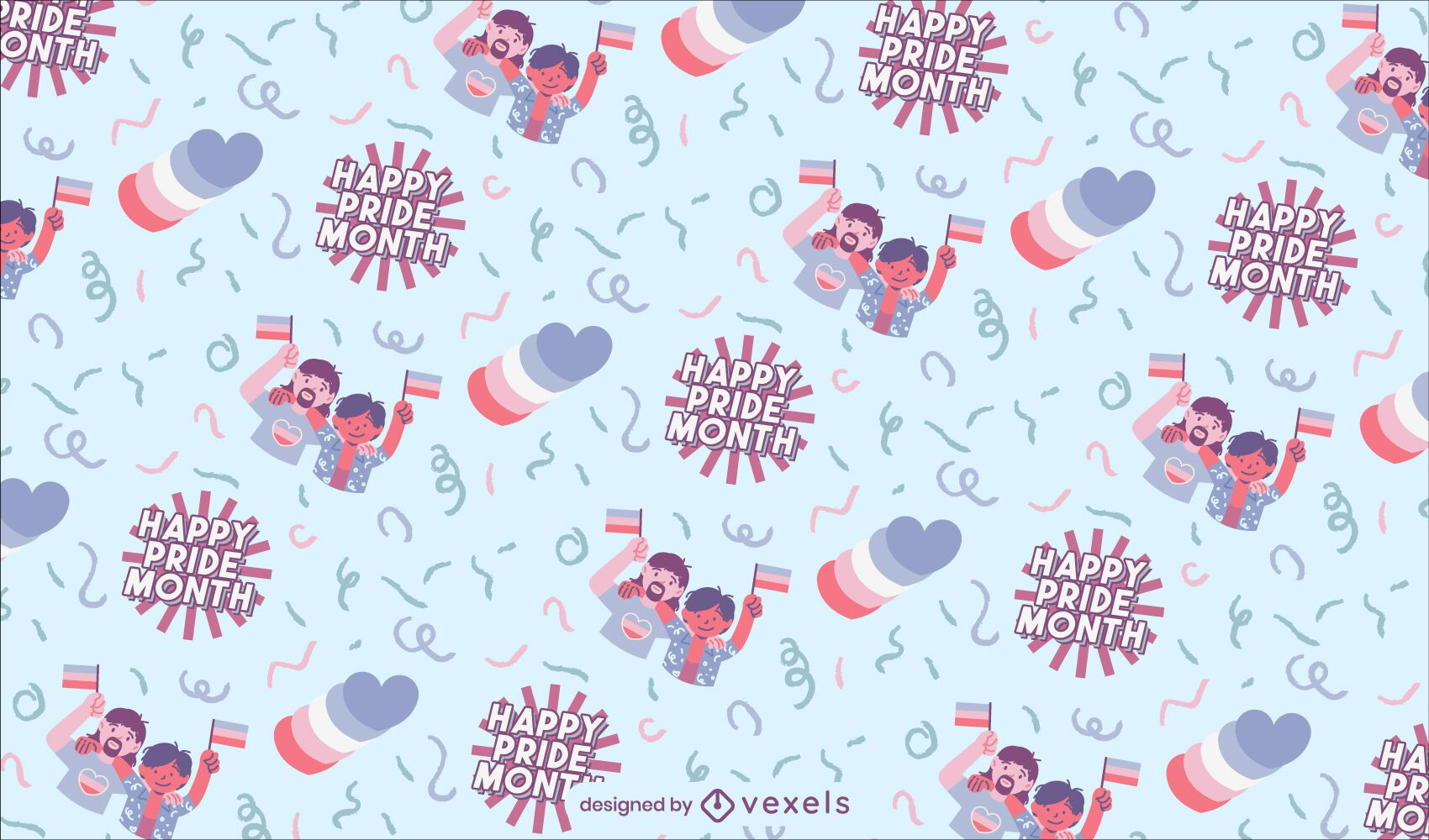 Happy pride month lgbt pattern design