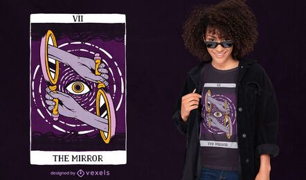 The mirror tarot card t-shirt design