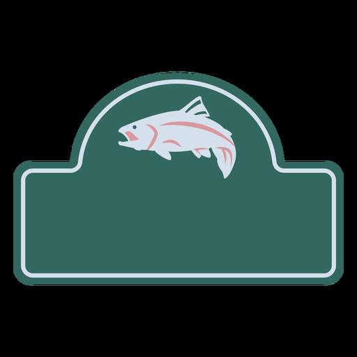 Fish swimming label