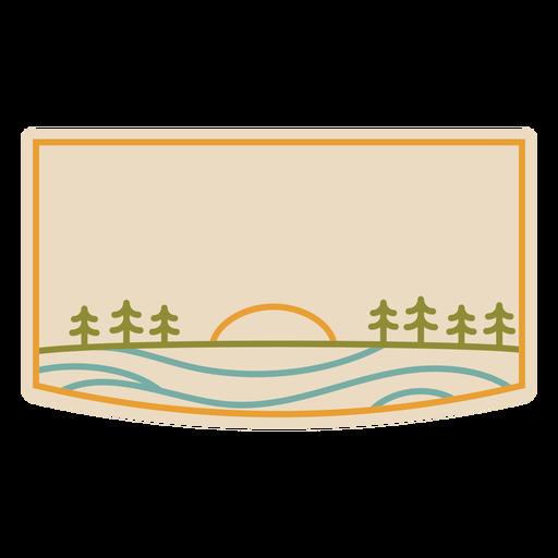 Forest landscape stroke label