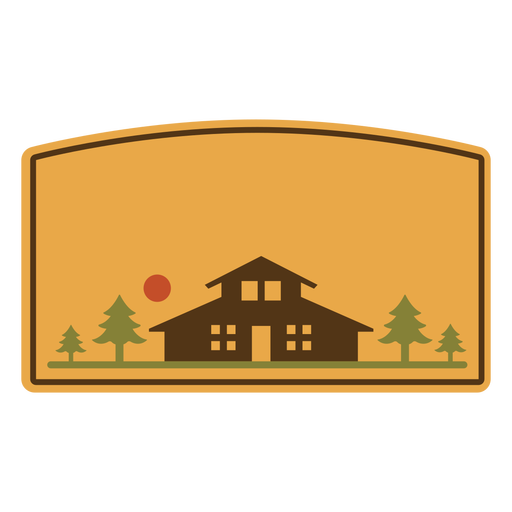 Cabin house building label