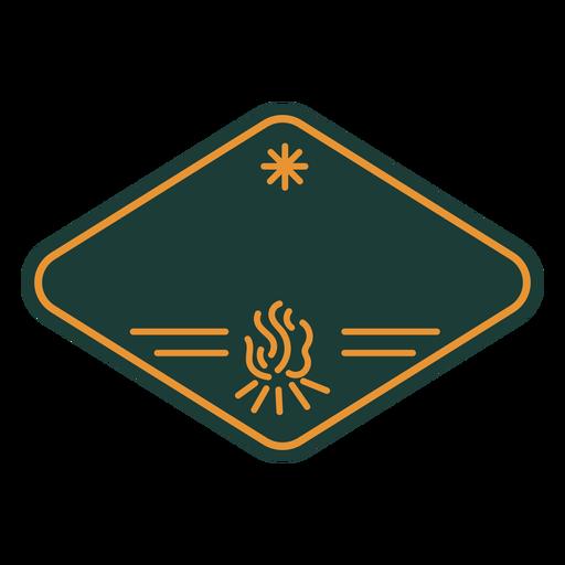 Bonfire camping label