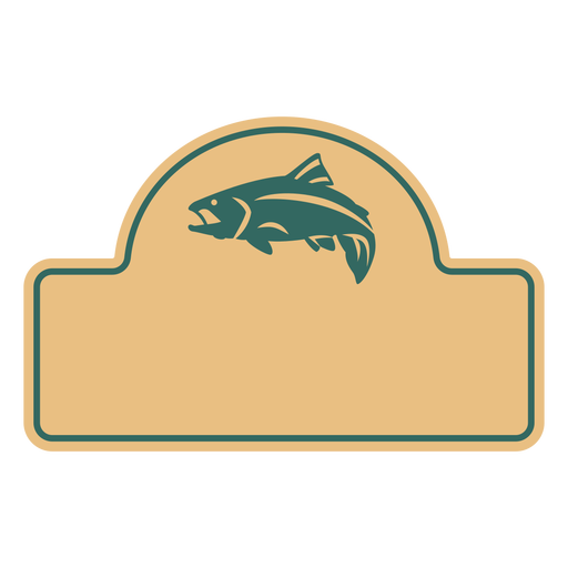 Fish sea animal cut out label