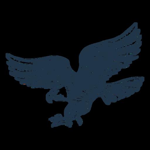 Eagle american flag filled stroke badge