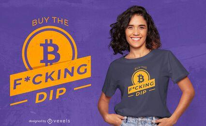 Bitcoin compra citação design de t-shirt