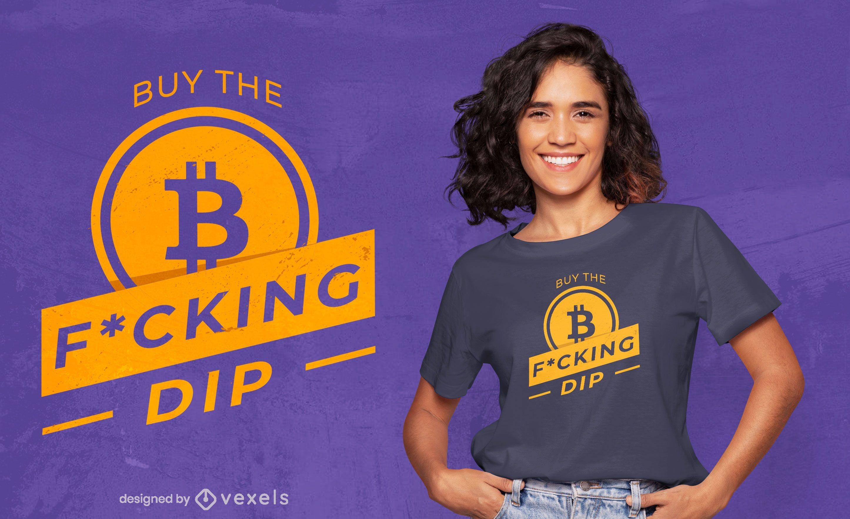 Bitcoin buy quote t-shirt design