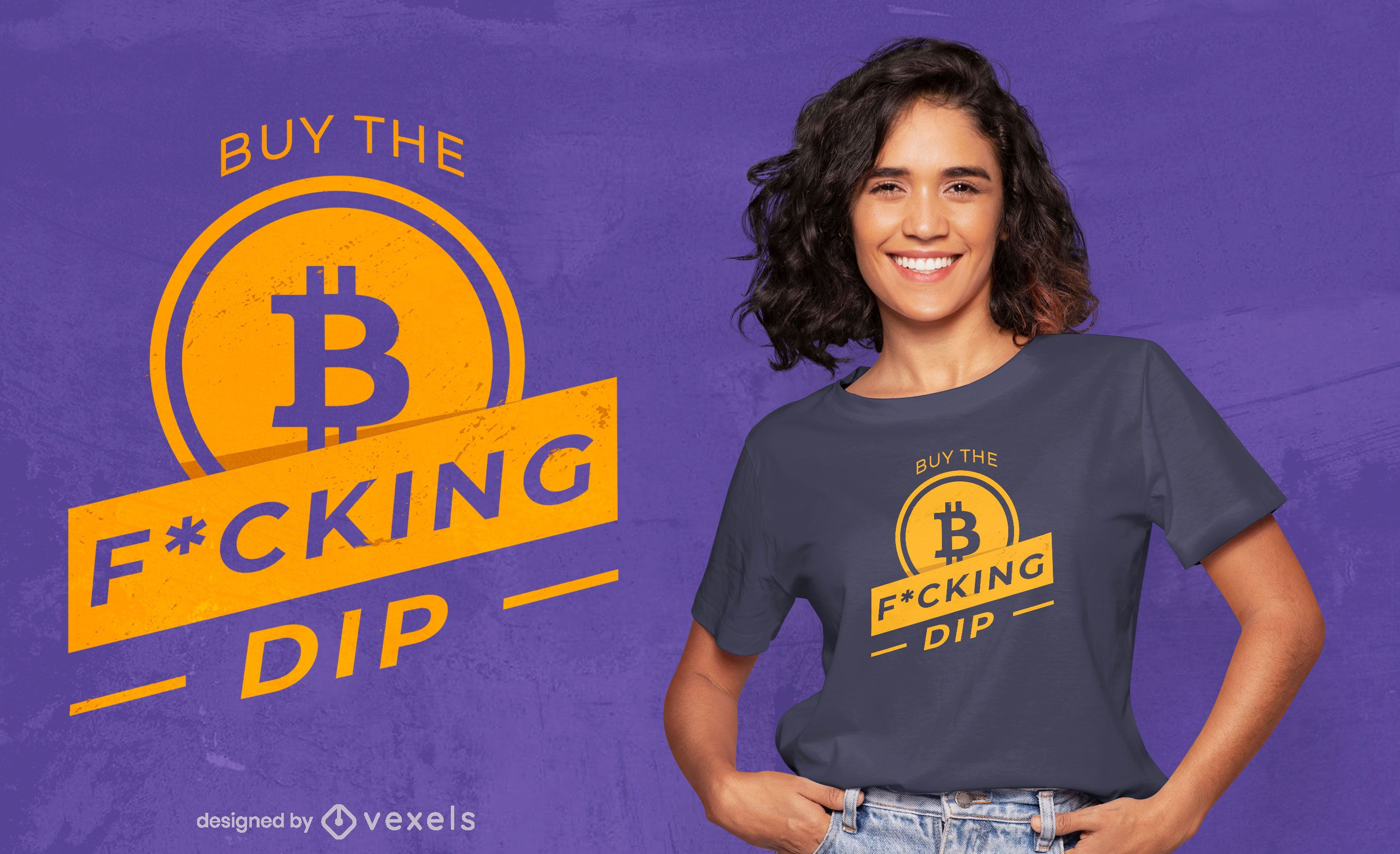 Diseño de camiseta Bitcoin buy quote