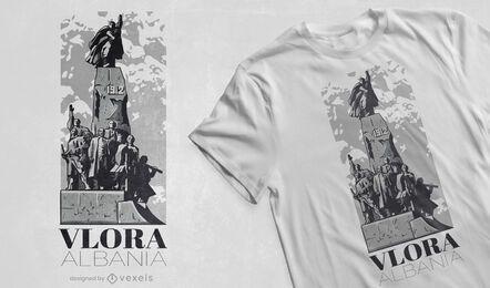 Diseño de camiseta de la estatua de Monument Albania