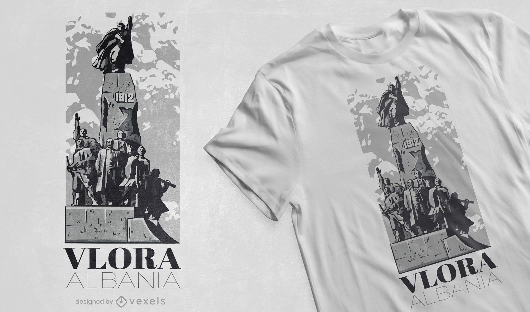 Monument Albania statue t-shirt design