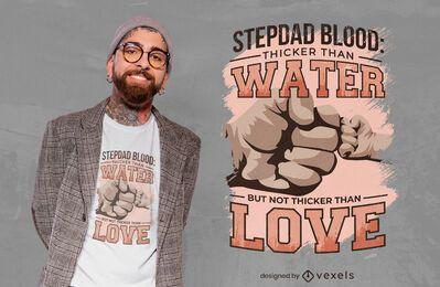 Diseño de camiseta con cita de golpe de puño de padrastro
