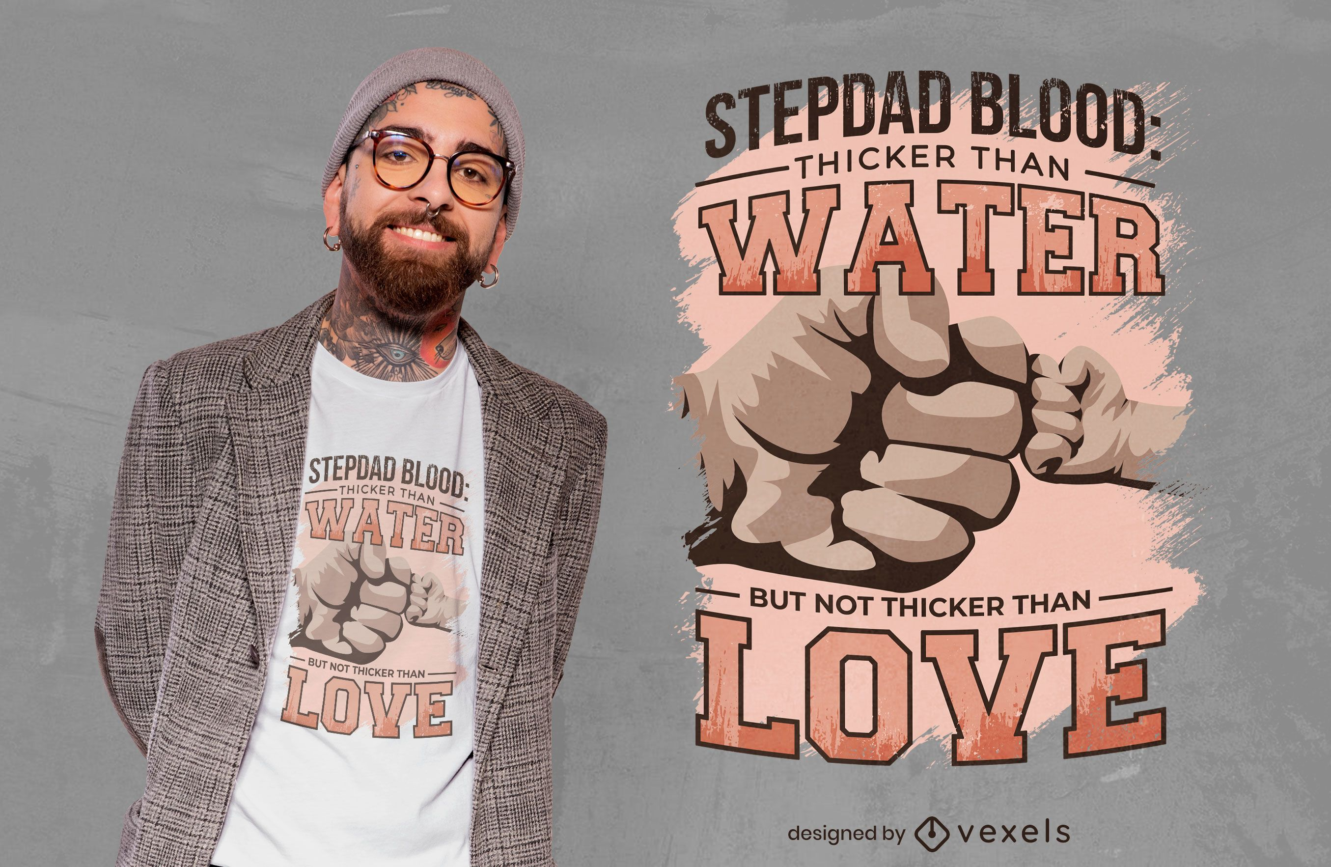 Stepdad fist bump quote t-shirt design