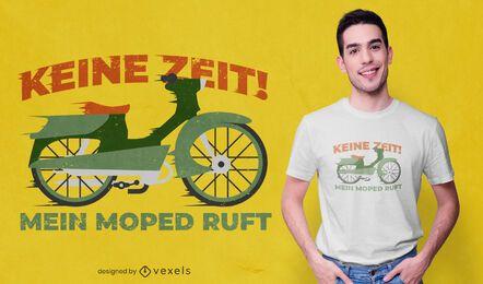 Antique motorbike german t-shirt design
