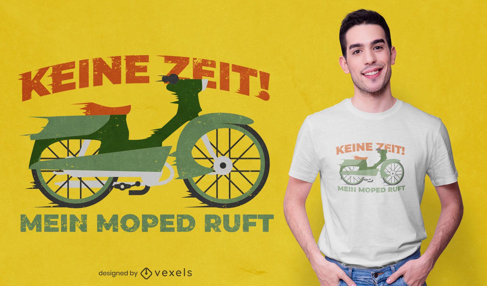 Diseño de camiseta alemana de moto antigua.