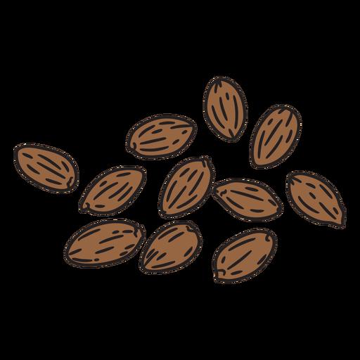Brown seeds color stroke