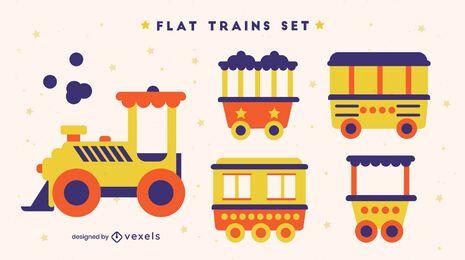 Juego de transporte de vagones de tren de juguete para niños.