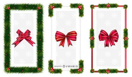 Marcos de adornos de navidad