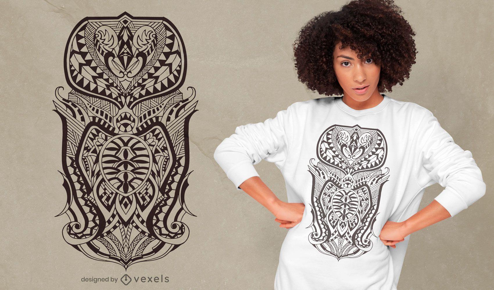 Detailed tribal t-shirt design