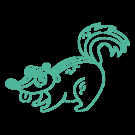 Cartoon squirrel animal