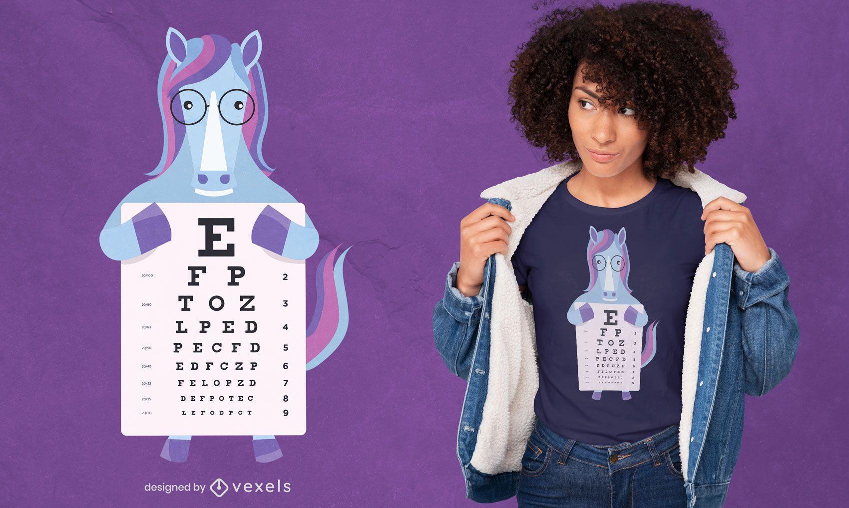 Einhorn-Augendiagramm-T-Shirt-Design