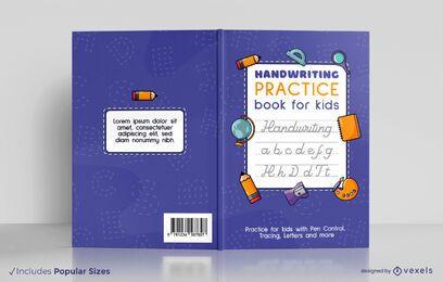 Escritura a mano para el diseño de portada de libros para niños.