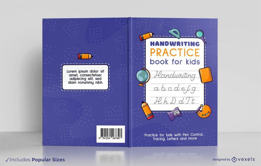 Handwriting for children book cover design