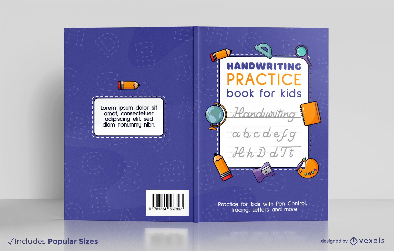 Escrita à mão para design de capa de livro infantil